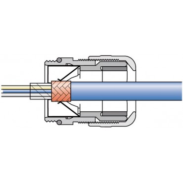 Dławnica kablowa mosiężna EMC PG11 IP68 SKINTOP MS-SC PG 11 53112220