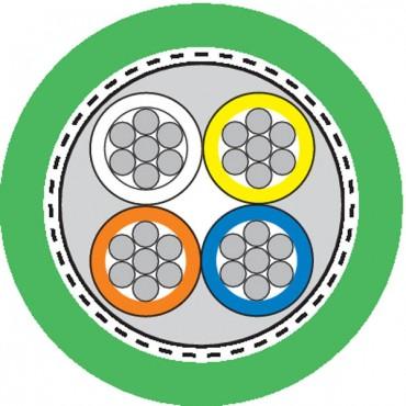 Przewód teleinformatyczny ETHERLINE PN kat.5 2x2xAWG22/7 Y FLEX FC 2170886 /bębnowy/