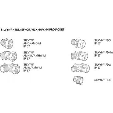 Wąż z włókna szklanego odporny na wysokie temperatury SILVYN HIPROJACKET NW 64 czerwony 64x70mm 61713025 /15m/