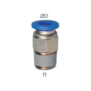 Szybkozłącze G-Fitting wtykowe proste Sang-A GPC przewód 6 mm gwint 1/2