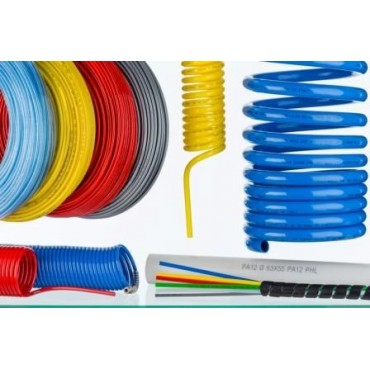 Przewód pneumatyczny poliuretanowy PU Sang-A przewód 12x9 - niebieski