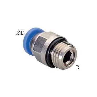 Szybkozłącze G-Fitting wtykowe proste Sang-A GPC z uszczelnieniem O-Ring przewód 10 mm gwint 1/8