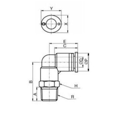 Szybkozłącze G-Fitting wtykowe kątowe Sang-A GPL przewód 4 mm gwint 1/8