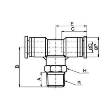 Szybkozłącze G-Fitting wtykowe trójnik Sang-A GPT przewód 6 mm gwint 3/8