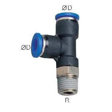 Szybkozłącze G-Fitting wtykowe, trójnik kątowy Sang-A  G-PST przewód 10 mm gwint 1/2