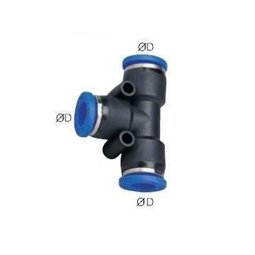 Szybkozłącze G-Fitting wtykowe, trójnik T Sang-A GPUT przewód 16 mm