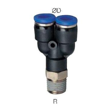 Szybkozłącze G-Fitting wtykowe, trójnik typu-Y Sang-A GPWT przewód 8 mm gwint 1/4
