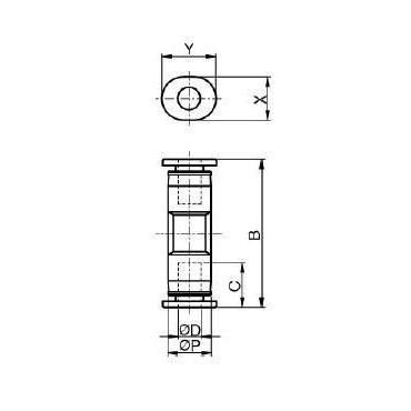 Szybkozłącze G-Fitting wtykowe proste Sang-A GPUC przewód 6 mm