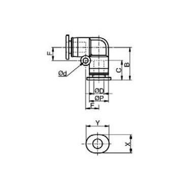 Szybkozłącze G-Fitting wtykowe kątowe Sang-A GPUL przewód 6 mm