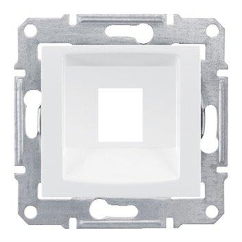 Sedna Plakietka centralna gniazda komputerowego podwójnego RJ45: systimax biała SDN4300521