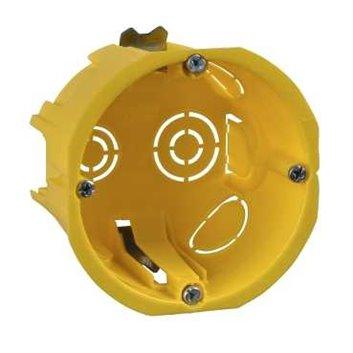 ELDA Puszka osprzętowa podtynkowa fi 65mm MULTIFIX PLUS2 65x45mm żółta IMT35150