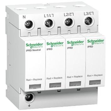 Ogranicznik przepięć Kl. D 4P 8kA ze stykiem pomocniczym iPRD-8r-8kA-350V-3PN A9L08601