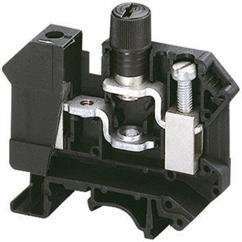 Złączka szynowa bepiecznikowa 5x20mm 2-przewodowa 16mm2 czarna NSYTRV162SF
