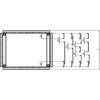 Przepust kablowy 600X400mm do SF NSYEC64