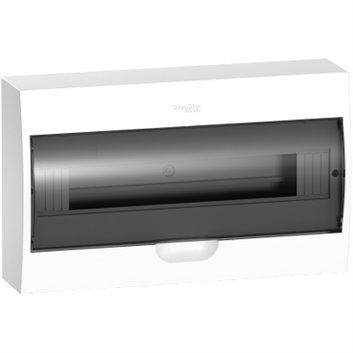 Rozdzielnica modułowa 1x18 natynkowa IP40 drzwi transparentne Easy9 EZ9E118S2S