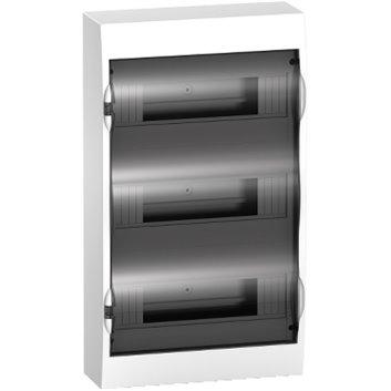 Rozdzielnica modułowa 3x12 natynkowa IP40 drzwi transparentne Easy9 EZ9E312S2S