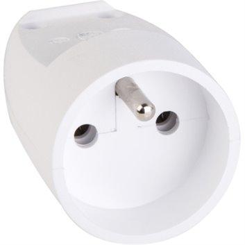 Gniazdo pojedyncze z/u przenośne 16A IP20 białe S-131 S13101