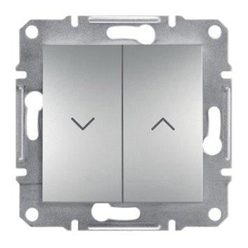ASFORA Przycisk żaluzjowy (z. śrub.) bez ramki aluminium EPH1300361