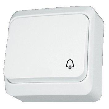 Prima Przycisk dzwonek mechanizm z pełną obudową biały IP20 przycisk 1x WNt-101P WDE001012