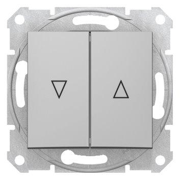 Sedna Łącznik żaluzjowy 2-biegunowy z blokadą mechaniczną 10A aluminium SDN1300360