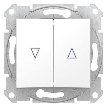 Sedna Przycisk żaluzjowy 2-biegunowy z blokadą elektryczną 10A biały SDN1300121