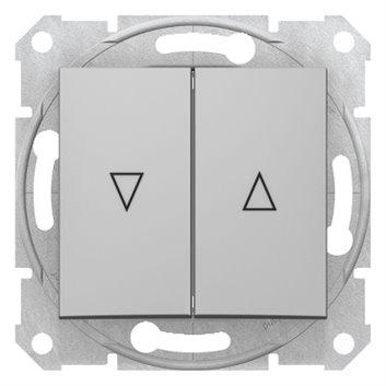 Sedna Przycisk żaluzjowy 2-biegunowy 10A aluminium z blokadą elektryczną SDN1300160