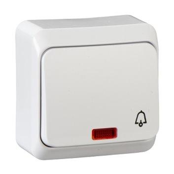 Prima Przycisk /dzwonek/ z podświetleniem biały prima WDE001015