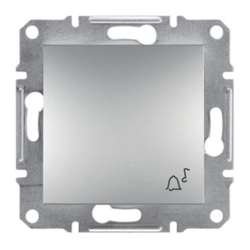 """ASFORA Przycisk """"""""dzwonek"""""""" bez ramki aluminium EPH0800161"""