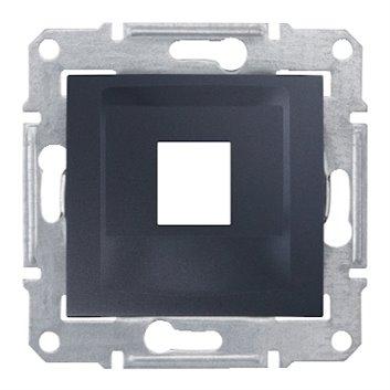 SEDNA Płytka centralna pojedyncza pod wkład komputerowy RJ45 KRONE grafitowa SDN4300370