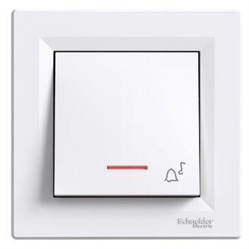 ASFORA Przycisk dzwonek z podświetleniem zaciski śrubowe biały EPH1700321