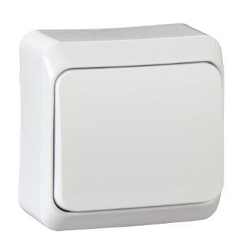 Prima Łącznik jednobiegunowy 10AX biały WNT-100P01 WDE001010