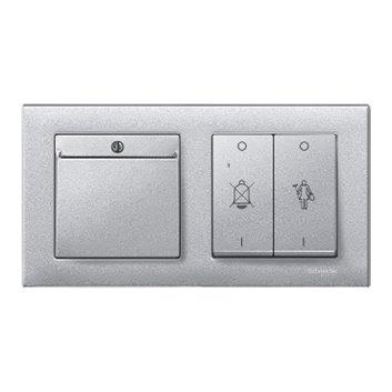 Merten System M Łącznik hotelowy na kartę aluminiowy MTN315460