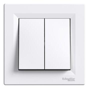 ASFORA Łącznik świecznikowy zaciski śrubowe biały EPH0300321