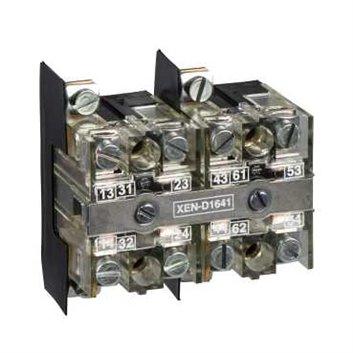 Blok styków z sam. powr., 2 NO, montaż czołowy 40mm XEND2621