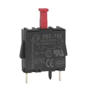 Blok styków pojedynczy dla głowicy O22 1NC piny dla PCB ZBE702