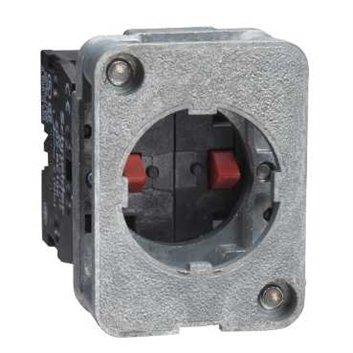 Blok styków z sam. powr., 1 NO, montaż z przodu, śr. 30 lub 40mm XACS411