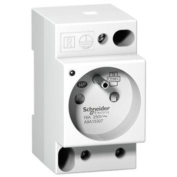 Gniazdo modułowe z lampką iPC 2P+E 10/16A 250V na szynę białe A9A15307