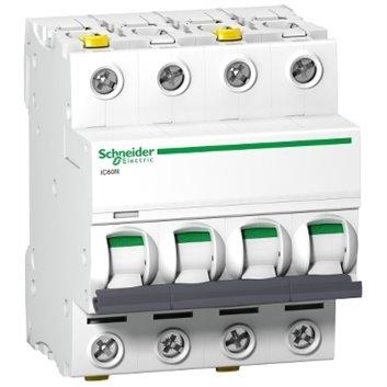 Wyłącznik nadprądowy 4P D 10A 6kA AC iC60N-D10-4 A9F05410