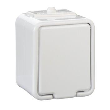 Cedar Gniazdo hermetyczne biały z PE 16A IP44 GWN140PC01