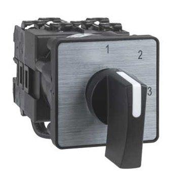 Przełącznik piórk. krzywkowy woltomierza, 3L-N, 45°, 12A, mocowany śrubą K1D023MLH