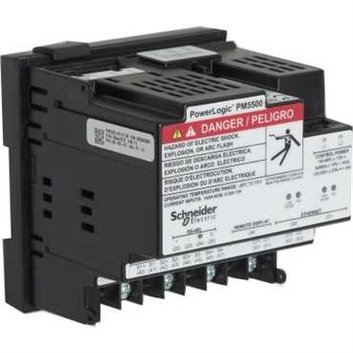 Miernik parametrów sieci (U, I, P, Q, f, PF, E) 5/1A przekładnik 100-415V AC Ethernet Modbus tablicowy 96x96mm METSEPM5563