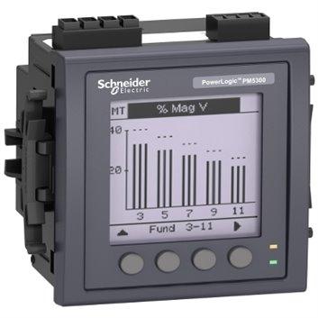 Miernik parametrów sieci (U, I, P, Q, f, PF, E) 5/1A przekładnik 100-415V AC Modbus MID tablicowy 96x96mm METSEPM5331