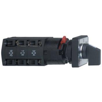 Przełącznik piórkowy krzywkowy woltomierzowy, 3L, 45°, 10A, dla O 16 or 22mm K10D024MCH