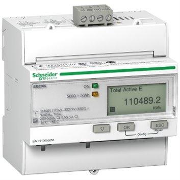 Licznik energii elektrycznej 1/3-fazowy 5A przekładnik 100-277/173-480V kl.0,5S/C BACnet MID taryfowy cyfrowy iEM3265 A9MEM3265