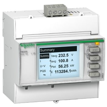 Miernik parametrów sieci z Modbus RS485 2we/2wy cyfrowe na szynę DIN METSEPM3255