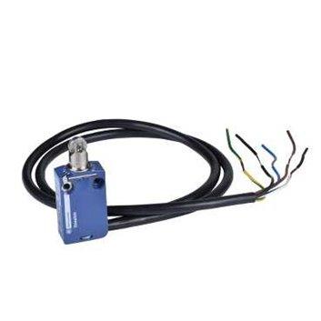 Wyłącznik krańcowy 1R 1Z migowy metal popychacz z rolką stalową kabel 1m XCMD2102L1