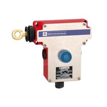 Łącznik bezpieczeństwa cięgnowy XY2CE, lewa strona -1NC+1NO-przyciski osłonięte XY2CE2A250EX