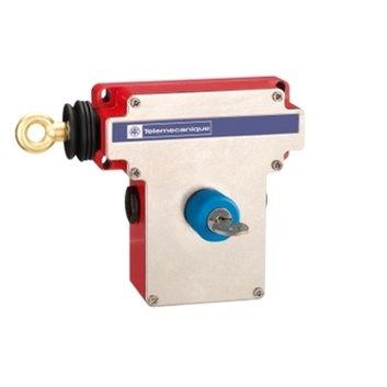 Łącznik bezpieczeństwa cięgnowy XY2CE, lewa strona -1NC+1NO, klucz-zw. przyciskiem XY2CE2A450