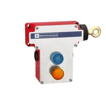 Łącznik bezpieczeństwa cięgnowy XY2CE, prawa strona, 2NC+2NO, wsk. św. 230V -przyc. osł. XY2CE1A297