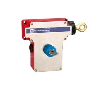Łącznik bezpieczeństwa cięgnowy XY2CE, prawa strona -1NC+1NO, klucz-zw. Przeyciskiem XY2CE1A450